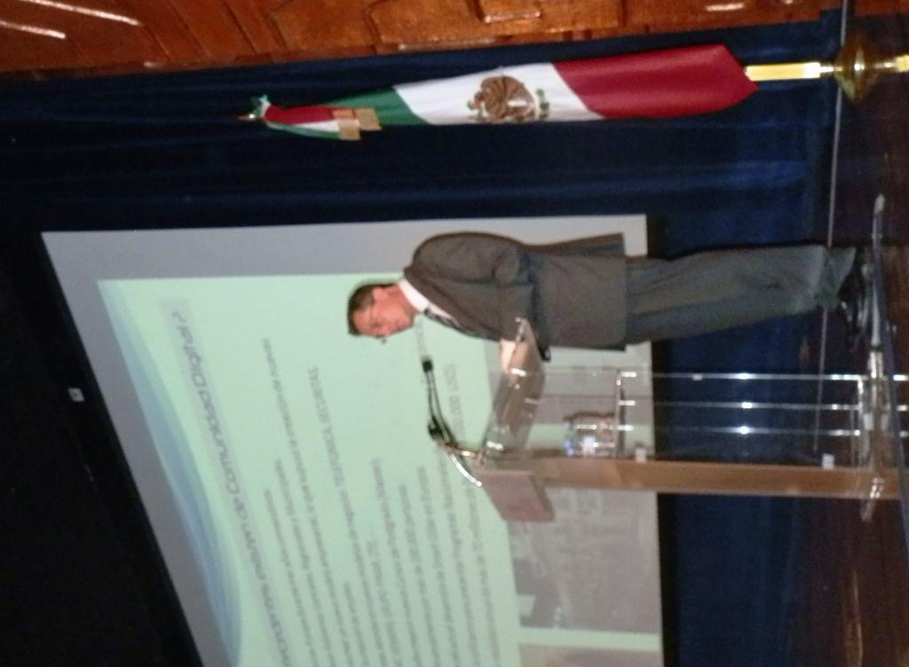 En un acto en la Secretaría de Economía del Gobierno Federal mexicano.