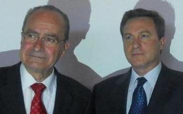Con el Alcalde de Málaga, Sr. Francisco de la Torre
