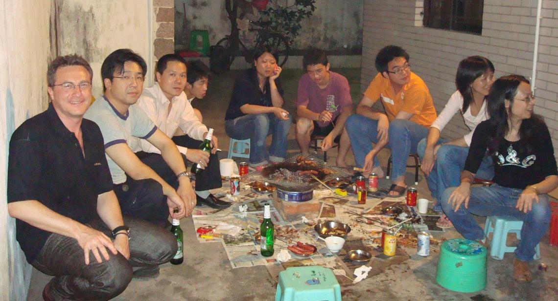 ... cena improvisada en Zhongsan, en la provincia de Guang Dong, Sureste de R. P. de China